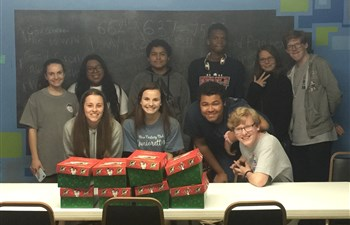 The youth at Lewis Memorial United Methodist Church, Calhoun City, MS  put together shoeboxes during the 2019 Christmas season! This is an annual event for the youth and they shop for the items that were included!